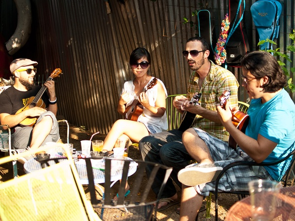 Mortar_OKRA event, musicians, June 2012