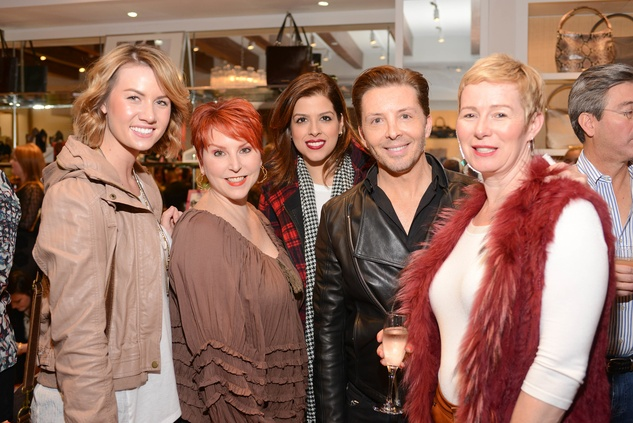 8 Annalise Dernehl, from left, Victoria Souder, Karla Godinez, David Bamfield and Tracey Marsh at the Elaine Turner BLVD Place Grand Opening Party December 2014