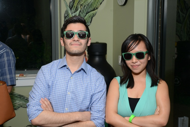 Houston Arboretum Evergreen party, May 2015, Jorge Hurtado, Michelle Huang