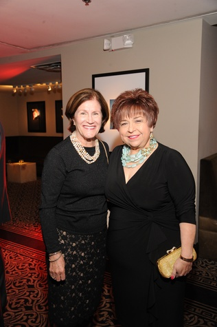 Nancy Levicki, left, and Trini Mendenhall at the Houston Arts Alliance event with Rita Moreno May 2014