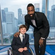 Aaron Berry, left, and James Harden at the Circle of Life Gala April 2015