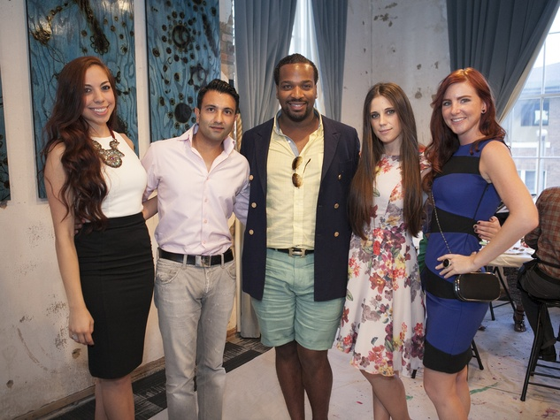 Cassandra Carrillo, Imran Sheikh, Fathay Smith-Kiawu, Amber England, Melissa Jarutowicz, CultureMap Social Cocktail Party, NYLO Southside
