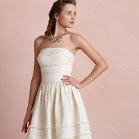BHLDN Bridal Salon Houson Sample Sale June 2013 Strapless Garden Trim Dress