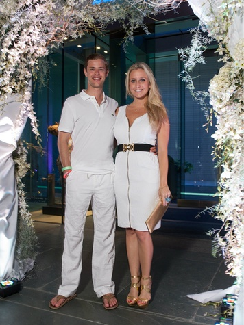 Jared Hutchins, Tierney Kaufman, white party