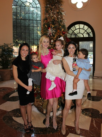 Christina and Caroline White, Kameron and Hilton Westcott, Leigh Bailey and Sophia Carrizales, sugar plum fairy tea