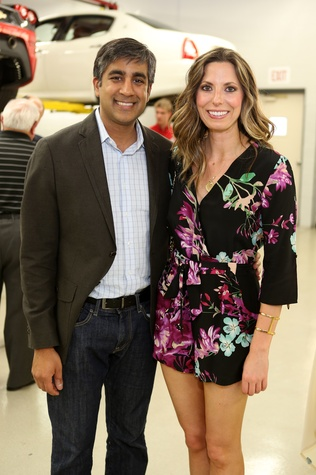 Dr. Ankur Kamdar and Dr. Courtney McCray at the Joints in Action at Ferrari of Houston June 2014.