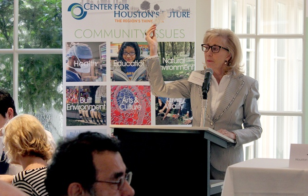 News, Shelby, Center for Houston's Future, Catherine Mosbacher, July 2014