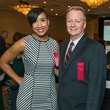"11 Jillian ""J.J."" Simmons and Michael Dulaney at the AIDS Foundation Houston luncheon December 2014"