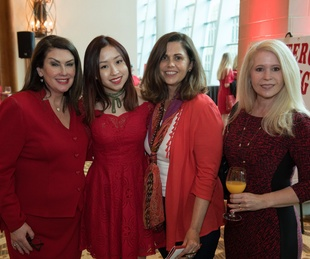 Sheila Reynolds, Emily Reynolds, Camilla Bloom, Elizabeth McCurdy, Go Red Fort Worth 2018