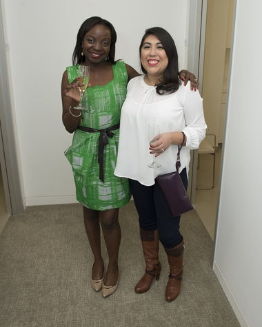 4 Jemila Alharazim, left, and Stephanie Rodriguez at the Vitenas party December 2014