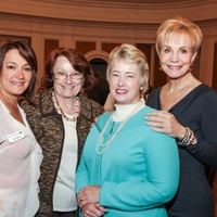 7947 Sheri Foreman Elder, from left, Kathy Hubbard, Mayor Annise Parker and Leisa Holland-Nelson at the Mayor's Literacy Breakfast May 2014