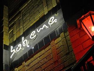 Boheme, bar, lounge, sign