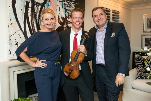 7 Valerie Dieterich, from left, Jonathan Godfrey and Tracy Dieterich at the HGO Young Patrons Kick-off September 2014