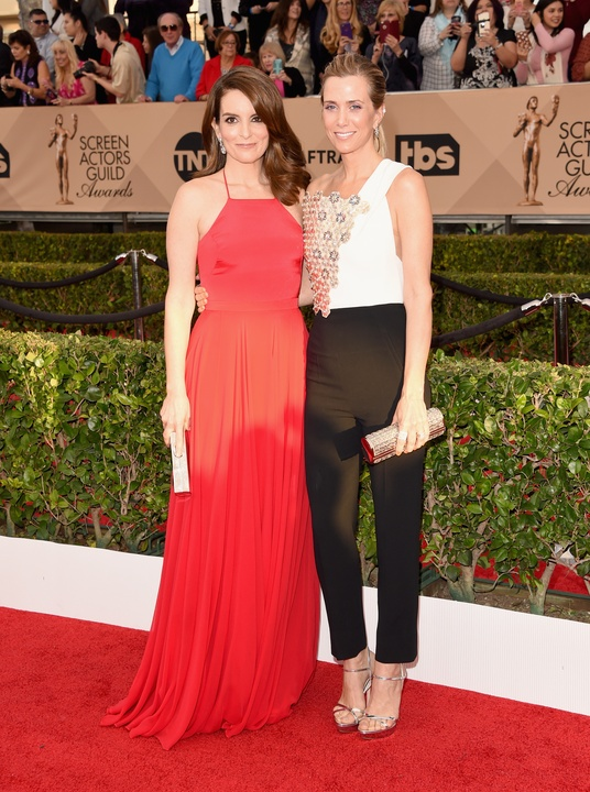 Tina Fey and Kristen Wiig at Screen Actors Guild Awards