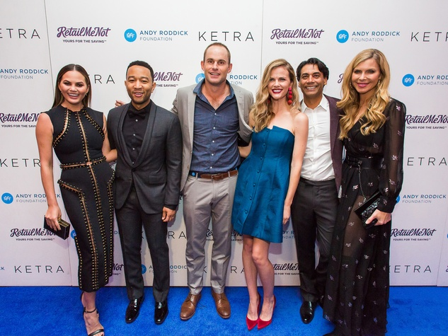 Andy Roddick Foundation Gala 2016 Chrissy Teigen John Legend Andy Roddick Brooklyn Decker Nav Sooch Whitney Casey