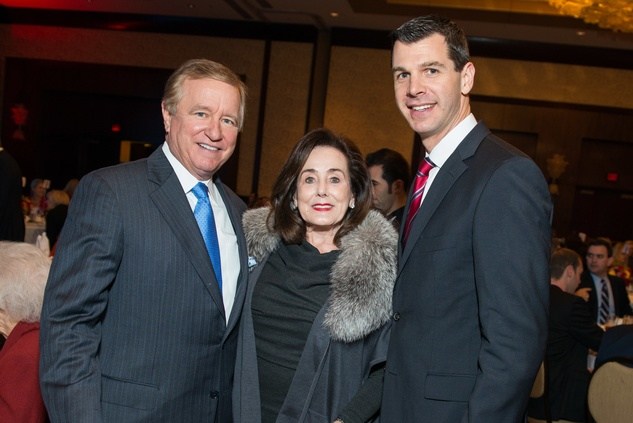 Jess and Betty Tutor, from left, with Mark Hanson at the National Philanthropy Day Awards November 2014