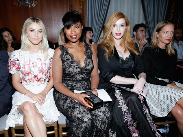 Marchesa front row, Julianne Hough, Jennifer Hudson, Christina Hendricks
