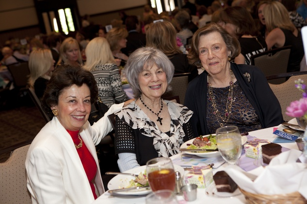 299 Kathy Goosen, from left, Peggy Barnett and Frances Heyne at the Hope and Healing Center luncheon May 2014