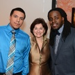 Julio Mendoza, from left, Linda Gale White and A.J. McQueen at the Communities in Schools dinner March 2014