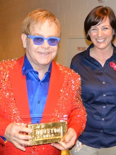 Elton John, Kelly Young, AIDS Foundation Houston