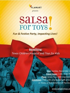 "Flamárt presents a Weekend of Salsa: ""Salsa for Toys"""