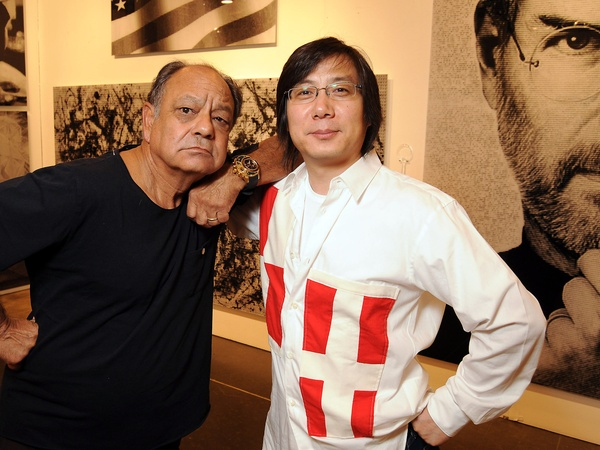 17, Houston Fine Arts Fair, opening night social, September 2012, Cheech Marin, Alex Cao