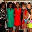 20 Sharon Sanders, from left, Linda Bell, Jackie Fair, Joann Klein and Ashlynn Sanders at the Dress for Dinner kickoff in new David Peck Showroom September 2014