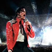 News_Michael Jackson_red jacket_concert