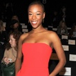 Samira Wiley at BCBG Max Azria fashion show February 2014