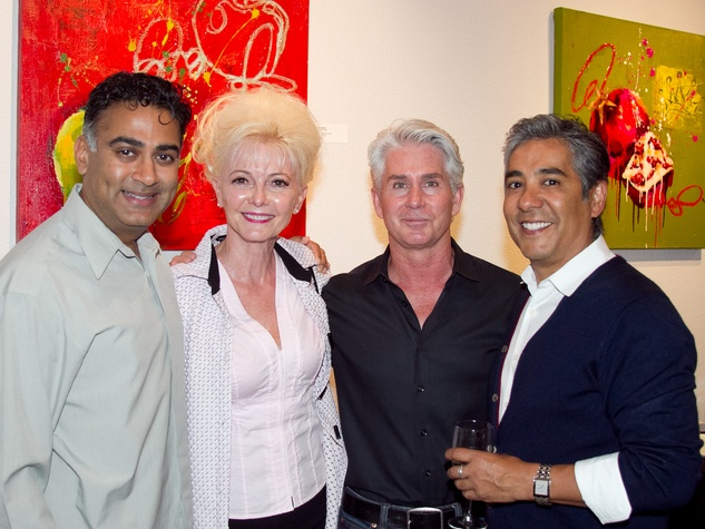 Art Bites Event at the Russell Collection in Austin Samir Patel Phyllis Fletcher Bill Pitts Jose Buitron
