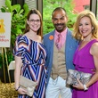 32 Jenny Dowen, from left, Todd Ramos and Larissa Lenton at Heroes and Handbags May 2014