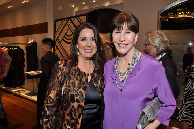 Julie Phillips, left, and Shelby Hodge at the Elizabeth Anthony expansion party October 2014