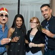 Julian Ong, from left, Ambica Tarakad, Sarah Cloots and Navdeep Sekhon at the Rienzi Punch Party October 2014