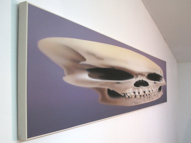 Artist of the Year 2013, Rachel Hecker, Anamorphic Skull, detail