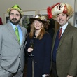 1 Stanton Welch, from left, Allison Thacker and Jim Nelson at Hats in the Park March 2014