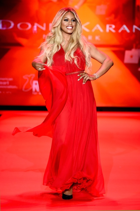 44 Clifford New York Fashion Week Fall 2015 Go Red for Women February 2015 Laverne Cox from Orange Is the New Black