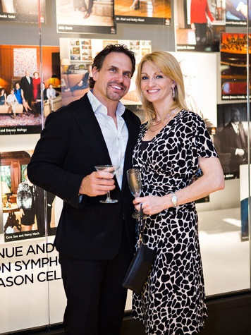 Scott and C.C. Ensell at the Houston Symphony Retrospective Exhibit event March 2014