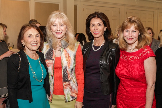 Mickie Huebsch, from left, AStrid Van Dyke, Judith Oudt and Cheryl Byington at the Passion for Fashion luncheon March 2014
