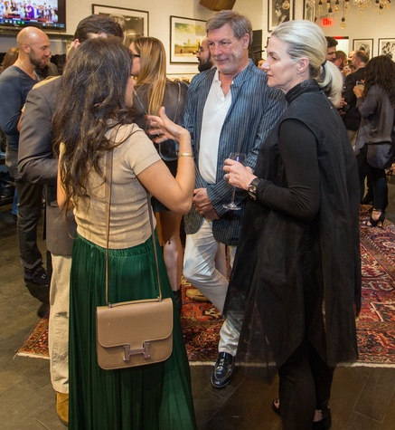 Neal Hamil and Holly Moore at John Varvatos book signing