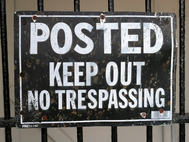News_No Trespassing_sign