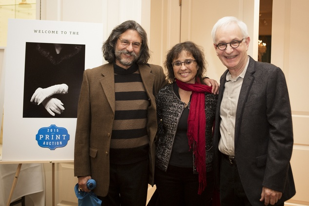 1 Roberto Fernandez, from left, Alicia Ibanez and Frazier King at the Houston Center for Photography Print Auction February 2015