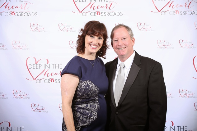 Raana and Mark Bell at the Crossroads Gala June 2014