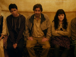 Devon Graye, Griffin Dunne and Madeleine Martin in The Discoverers