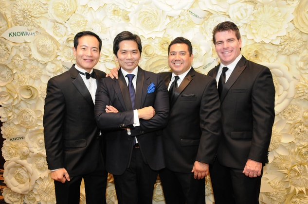 9444 Dr. Michael Chang, from left, Wayne Nguyen, Chris Cardenas and Chase Oelkers at the KNOWAutism Gala February 2015