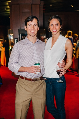 News, Shelby, Museum of Natural Science Catalyst party, Feb. 2015, William Farley and Kimberly Speciale