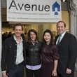 Chad Neal, from left, Jacqueline Kenneally, Michelle Hung and Robert Raney at Art on the Avenue November 2013