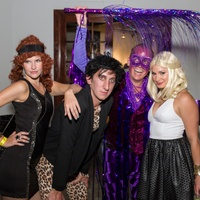 3064 Anita Hollman, from left, Sam Cole, Jim Petersen Jr. and Lauren Reeder at Party Like a Rock Star benefiting Planned Parenthood August 2014