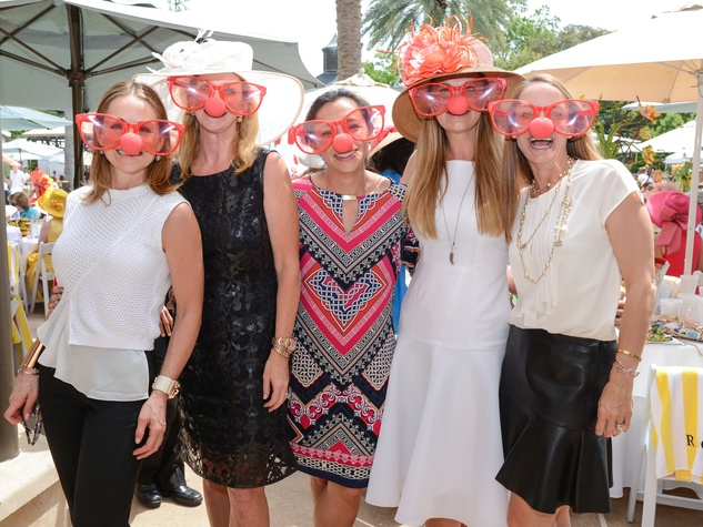 24 Lucinda Loya, from left, Kim Moody, Tracy Hale, Rachel Reagan and Linda Bosarge at the River Oaks Tennis Tournament luncheon April 2015