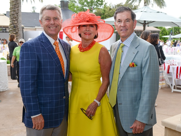 4 Joe and Cathy Cleary, left, with John Eads at the River Oaks Tennis Tournament luncheon April 2015