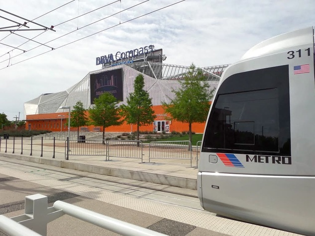 Metro Light Rail East End / EaDo BBVA Compass Stadium